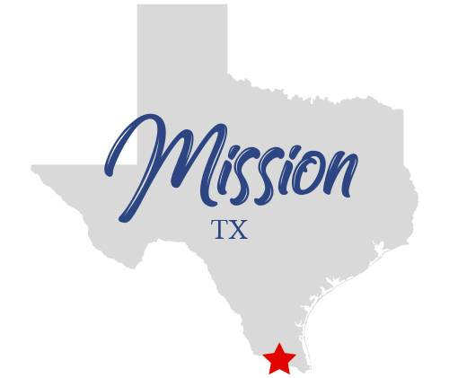 Map of Texas with Mission overlay text